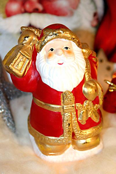 Nikolaus Glocke Gesicht ganze Figur