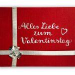 Geschenk-Box Alles Liebe zum Valentinstag Handlettering Schrift