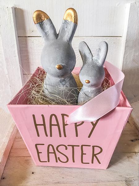 Happy Easter Osterhasen Osternest rosa