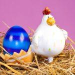 Huhn Ostereier Hühner-Eier Ostern Eierbecher