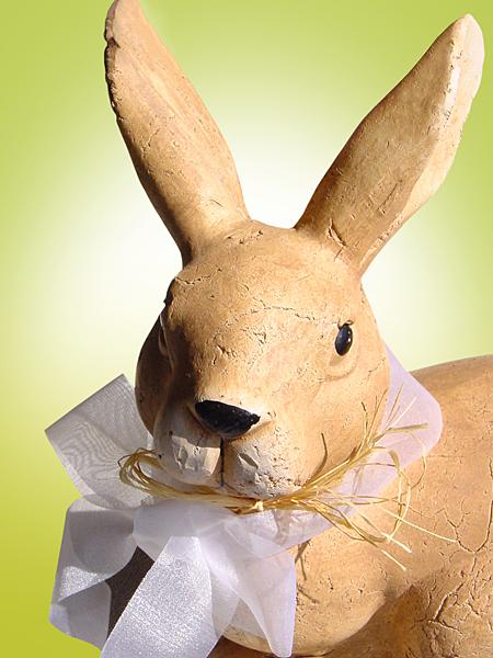 Osterhase Hasenportrait mit Schleife