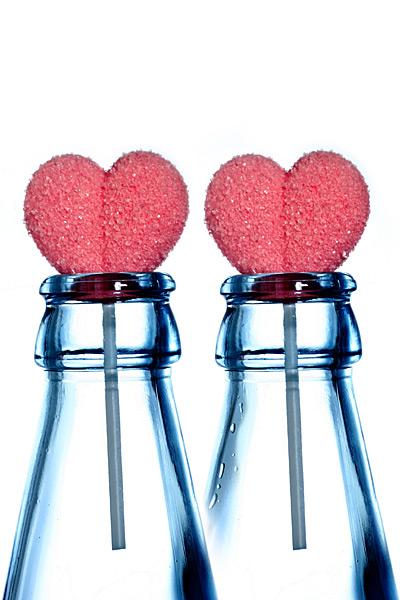 Valentinstag Zucker-Herzen Lutscher Grußkarte Liebe