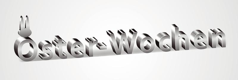 3D Schriftzug Osterwochen Schrift Ostern Osterhase