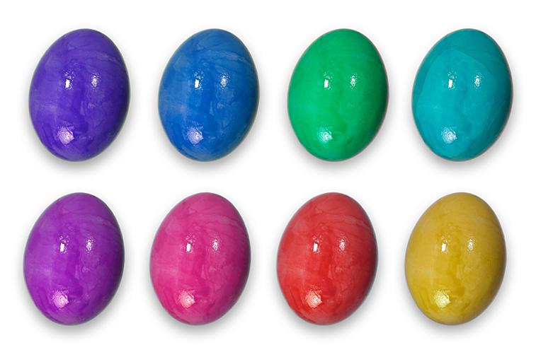 Bunte Ostereier Ostern Farbkasten