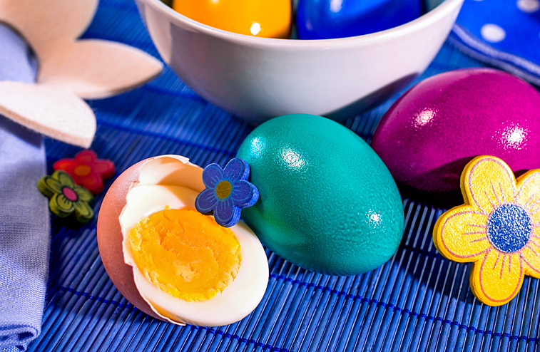 Hartgekochte Ostereier Ostern Frühstück