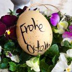 Ostereier Frohe Ostern Osternest Stiefmütterchen