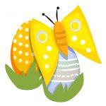 Ostereier Schmetterling Oster-Gras Osterbilder