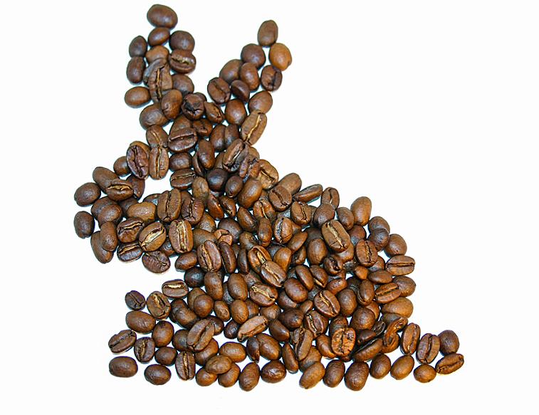 Osterhase Kaffeebohnen Ostern
