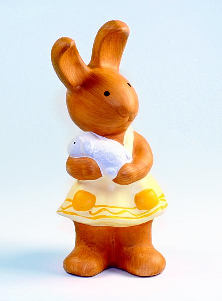 Osterhase mit Osterlamm Hasen-Mädchen Osterhäsin Ostern