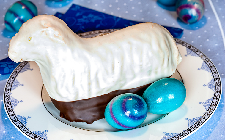 Osterlamm Biskuitlamm Ostern Ostereier
