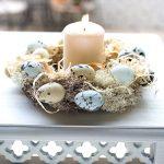 Ostern Ostereier Kranz Kerze Shabby Chic Landhaus