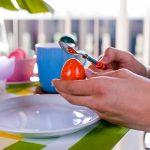Ostern Ostertisch Frühstückstisch Ostereier essen