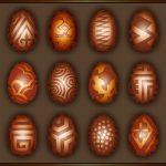 Schokoladen-Ostereier Vektor Ostern Pralinen