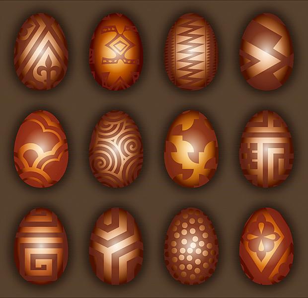 Schokoladen-Ostereier Vektor Ostern Pralinen Muster