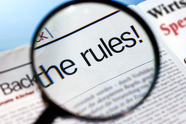 Back to the rules Wirtschafts-Magazin Börsenzeitung Lupe vergrösserte schrift