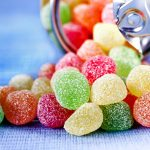 Fruchtgummi Süßigkeiten Zucker aus der Dose