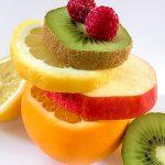 Obststapel Obstturm Früchtestapel Himbeeren
