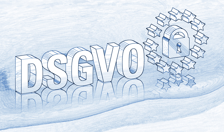 DSGVO Datenschutz-Grundverordnung Europa Sterne Schloss Zeichnung