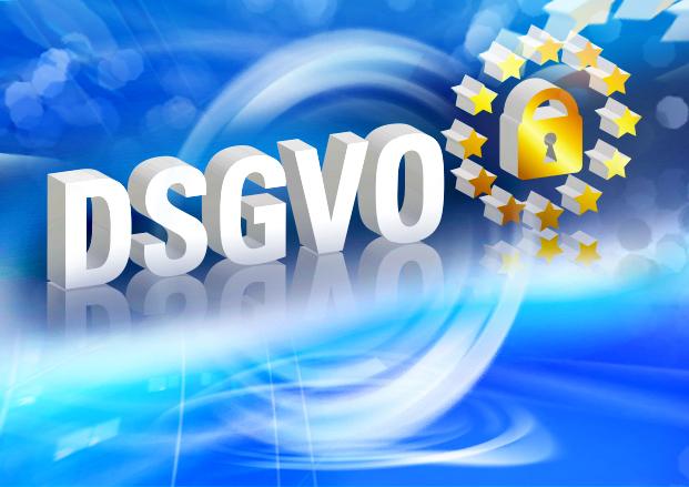 DSGVO Euro-Symbol Datenschutz Grundverordnung Schloss IT-Swirl