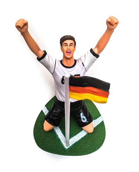 Fussballspieler WM Deutschland Flagge Fahne Ecke