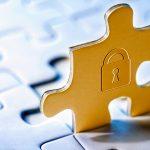 Puzzle Datenschutz Sicherheits-Schloss DSGVO