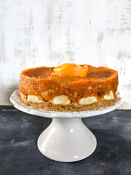 Rohkost Apfel-Kuchen Möhren Karotten-Torte