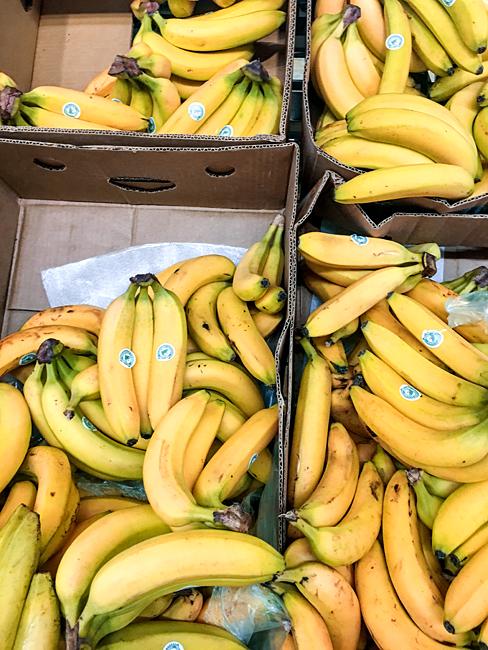 Bananen Bio Öko Bananenkisten Supermarkt