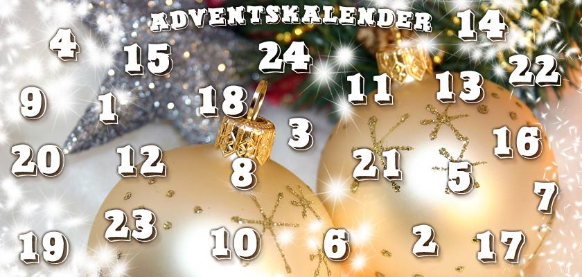 Adventskalender-Bild Weihnachtsbild weisse Weihnachtskugeln Silberstern Tannenbaum Zahlen Ziffern