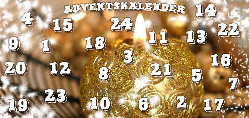 Adventskalender-Bild Weihnachtskugel brennende Weihnachts-Kerze