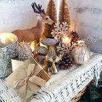 Festliche Weihnachtsdekoration Hirsch gold Weihnachtsgeschenk Landhaus Shabby Chic