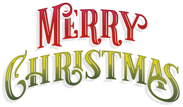 Merry Christmas Banner Weihnachten Glossy Schriftzug Glanz