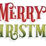 Merry Christmas Glossy Schrift Schriftzug rot grün Glanz