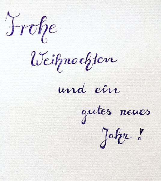 Frohe Weihnachten gutes neues Jahr Silvester Neujahr Handschrift Handlettering Briefpapier
