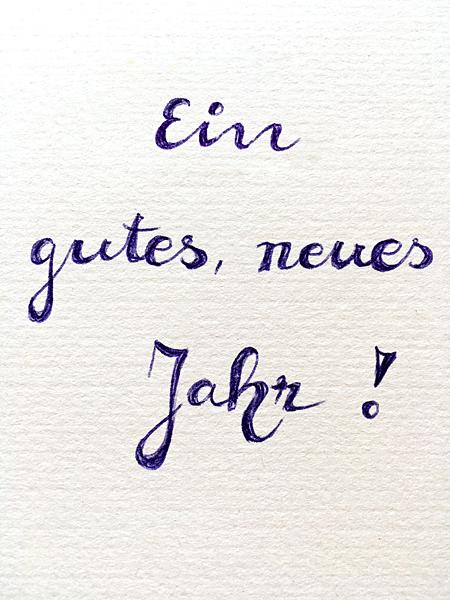 Grusskarte Neujahr Glückwunsch Handschrift Gutes neues Jahr