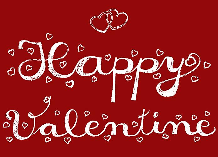 Valentinstag Handschrift Handlettering Herzen Happy Valentine