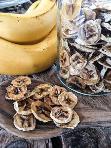 Gedörrtes Obst Rohkost Bananen-Chips Dörrautomat Dörrgerät