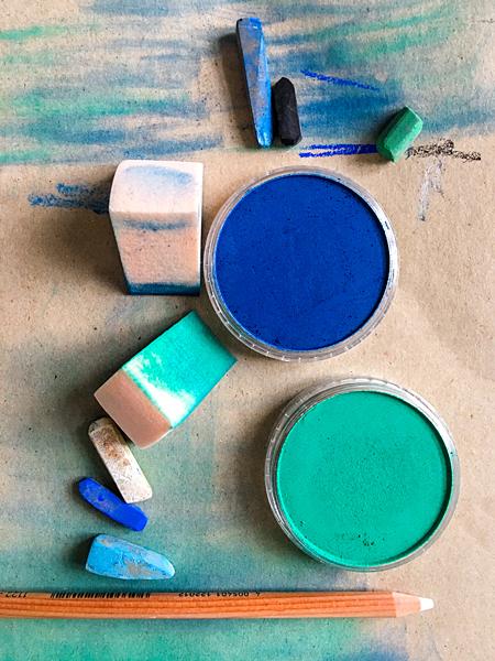 Kunst Künstler-Farben Pan-Pastell Kreidefarbe malen