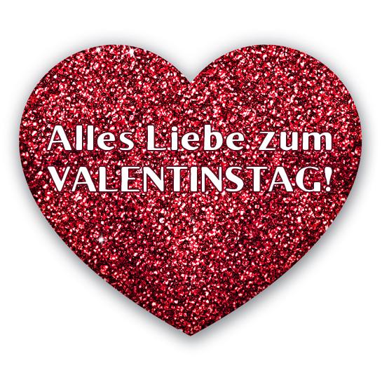 Rotes Herz Alles Liebe zum Valentinstag