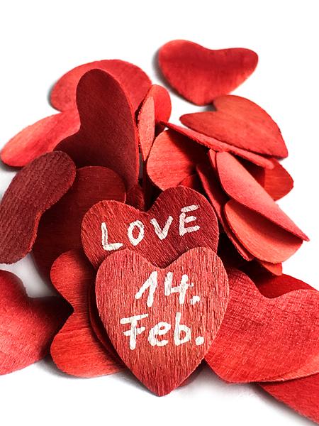 Valentinstag 14 Februar Valentinsgruß Herzen Liebe
