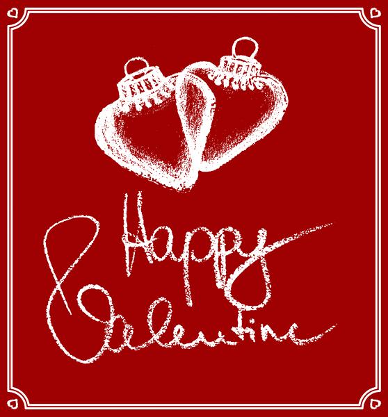 Valentinstag Herzen Valentinsgruss Liebesgrüsse Handschrift Handlettering