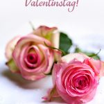 Valentinstag Liebes-Grusskarte Landhaus-Rosen Shabby Alles Liebe