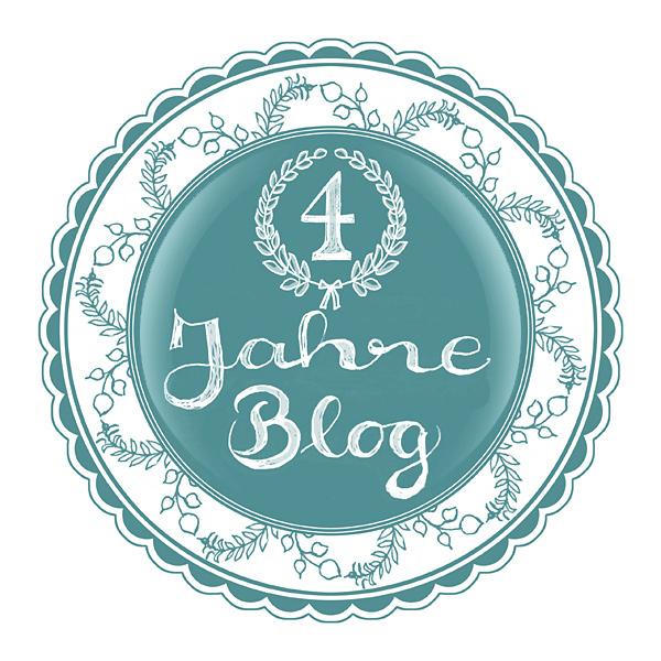 4 Jahre Blog Jubiläum Siegel Stempel Handschrift Handlettering