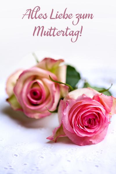 Muttertag Liebes-Grusskarte Landhaus-Rosen Shabby Alles Liebe
