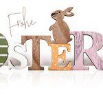 Ostern Osterhase Schriftzug Buchstaben Holz Shabby Landhaus