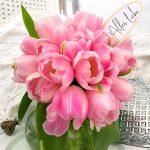 Rosa Tulpen Muttertag Alles Liebe Gruß Blumenstrauss