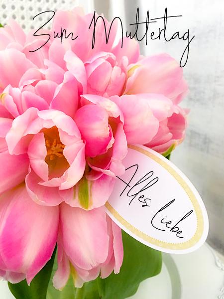 Zum Muttertag alles Liebe Tulpen Blumenstrauss