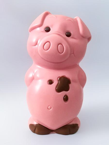 Schokoladenfigur Schwein rosa Schokoladenschwein Ferkel