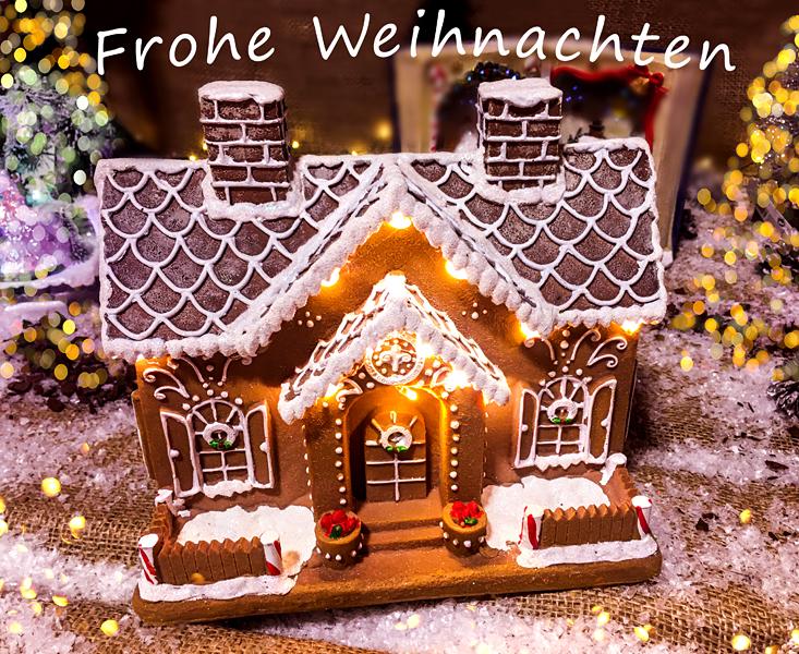 Frohe Weihnachten Lebkuchenhaus Pfefferkuchenhaus Weihnachtsdekoration