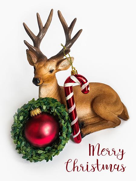Hirsch Weihnachtskugel Weihnachten Merry Christmas Weihnachtskarte