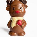 Schokoladenfigur Hirsch Elch Rentier Rudoph Weihnachten